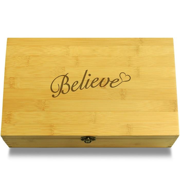 Believe Wooden Chest Lid