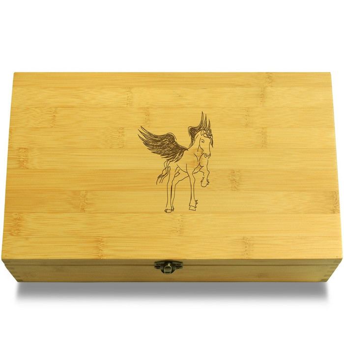 Pegasus Winged Horse Wooden Chest Lid