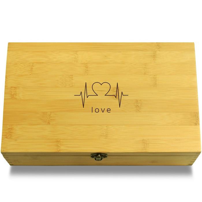 Heart lifeline Wood Chest Lid