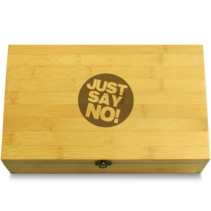 Just Say No! Wooden Box Lid