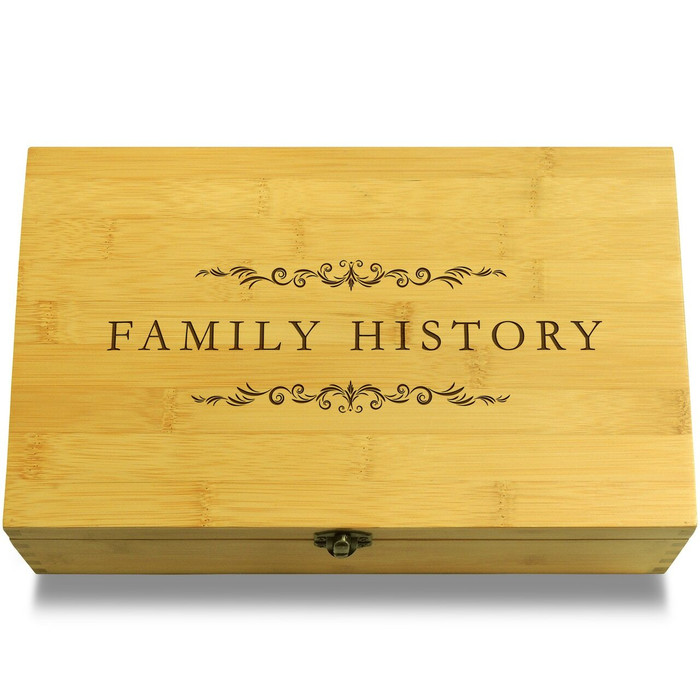Family History Filigree Wood Chest Lid