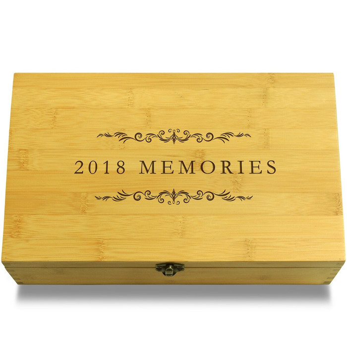2018 Memories Filigree Wooden Chest Lid