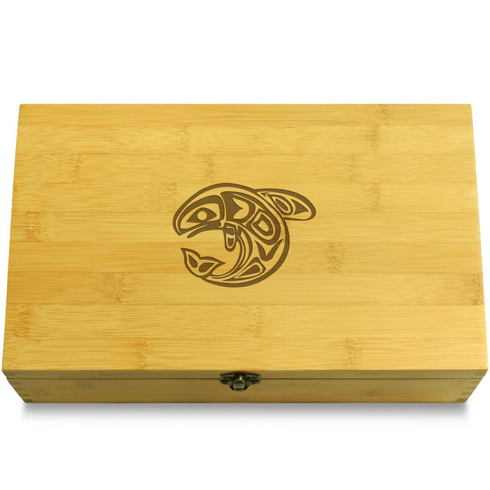 Orca Totem Wood Chest Lid