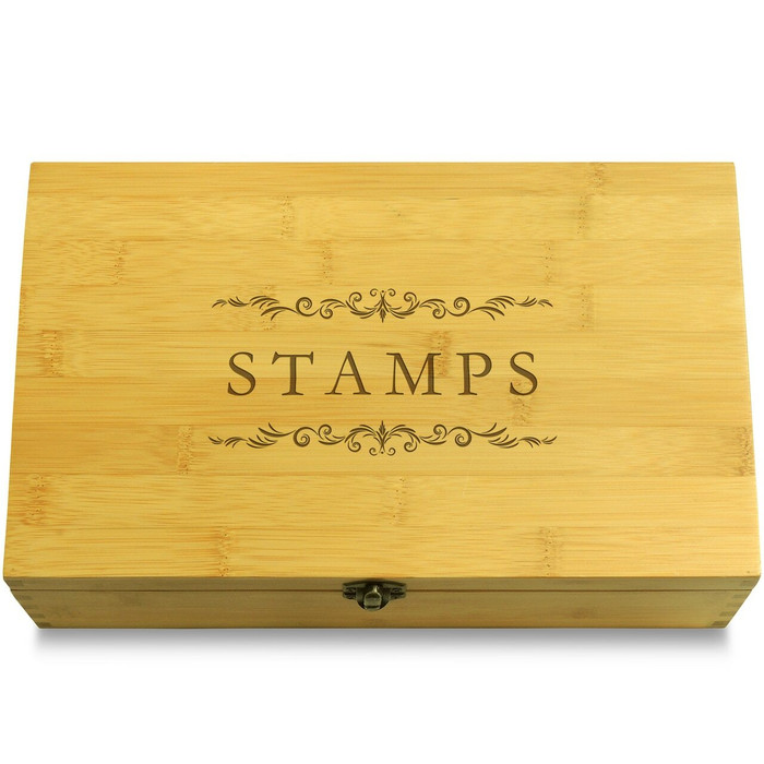 Stamp Collection Stamps Multikeep Box Light Wood Chest