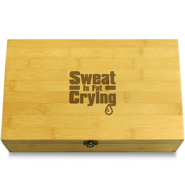 Sweat is Fat Crying Wooden Box Lid