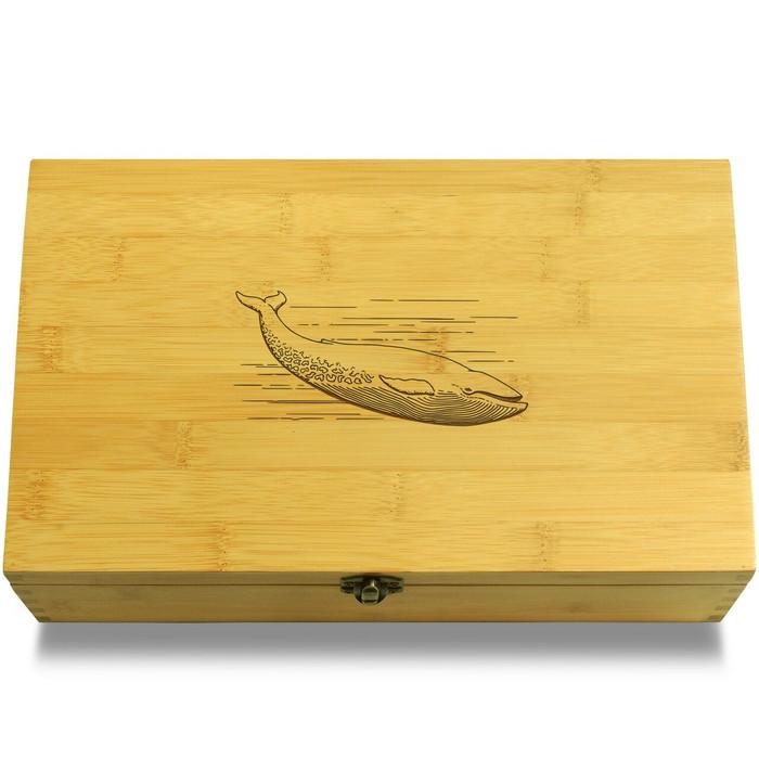 Whale Etching Organizer Box Lid