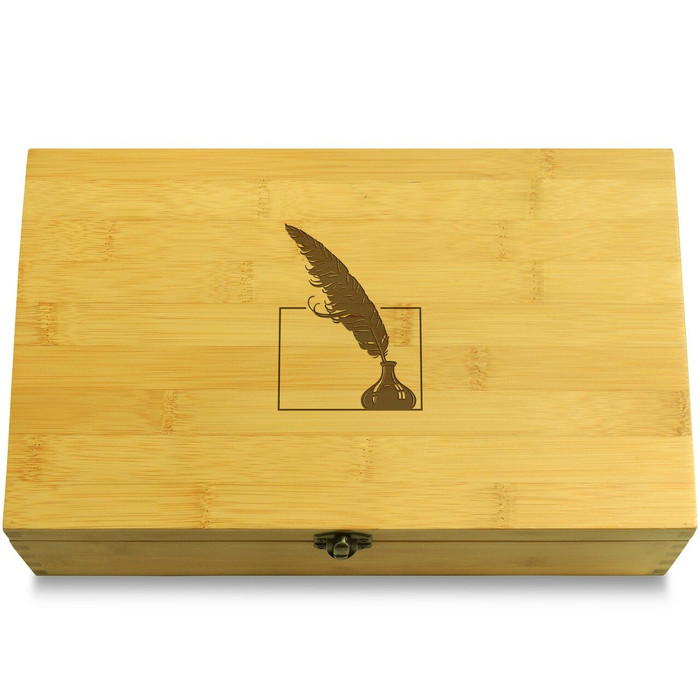 Feather Quill Organizer Chest Lid