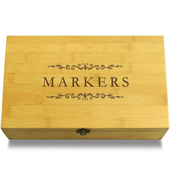 Markers Filigree Wooden Box Lid