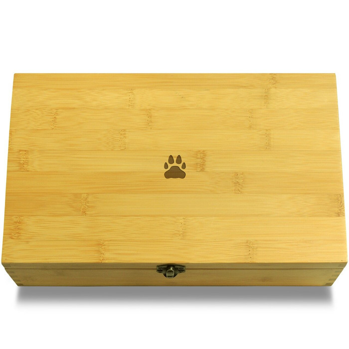 Dog Footprint Organizer Chest Lid