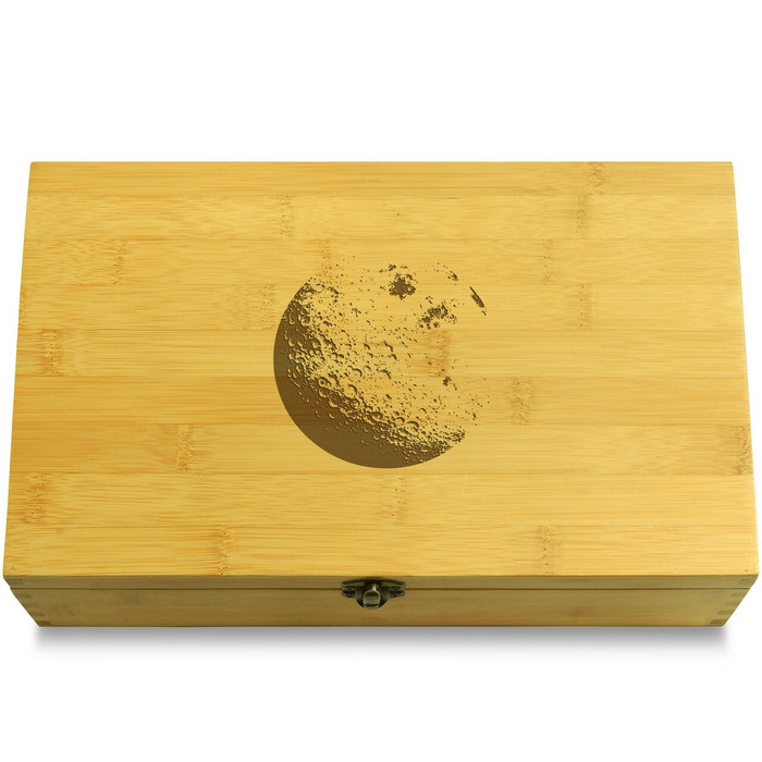 Moon Wooden Chest Lid