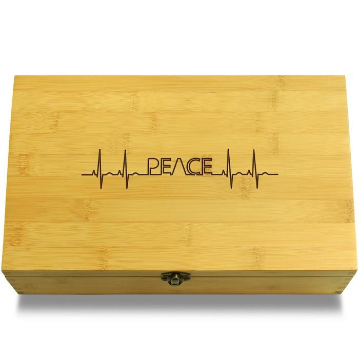Peace EKG Life Line Organizer Chest Lid