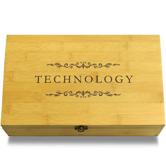 Technology Filigree Wood Chest Lid