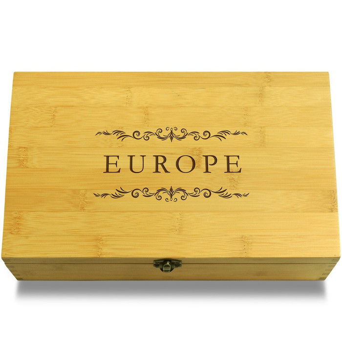 Europe Filigree Wooden Chest Lid