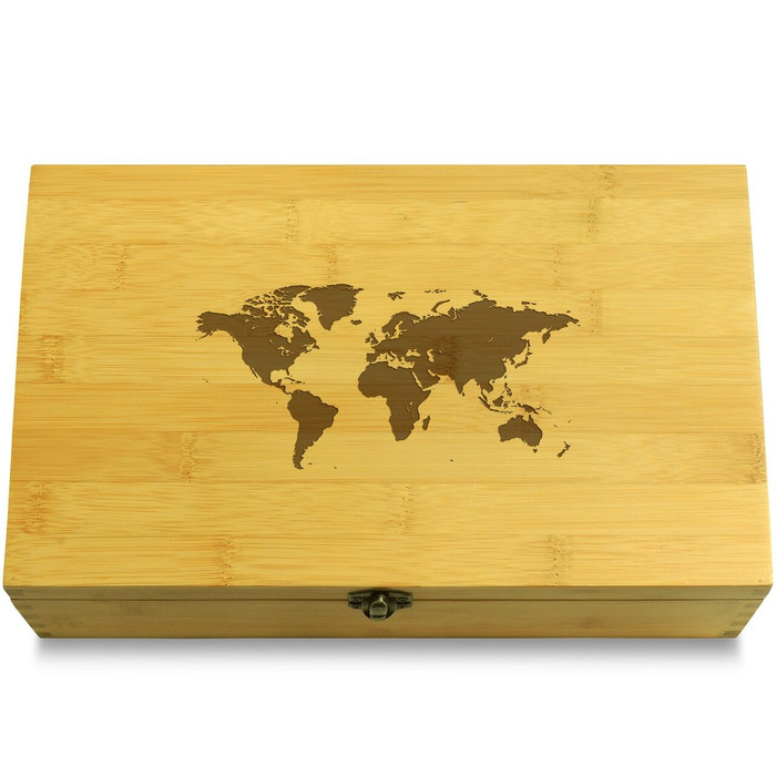 World Map Organizer Lid