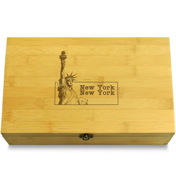 New York Wood Chest Lid