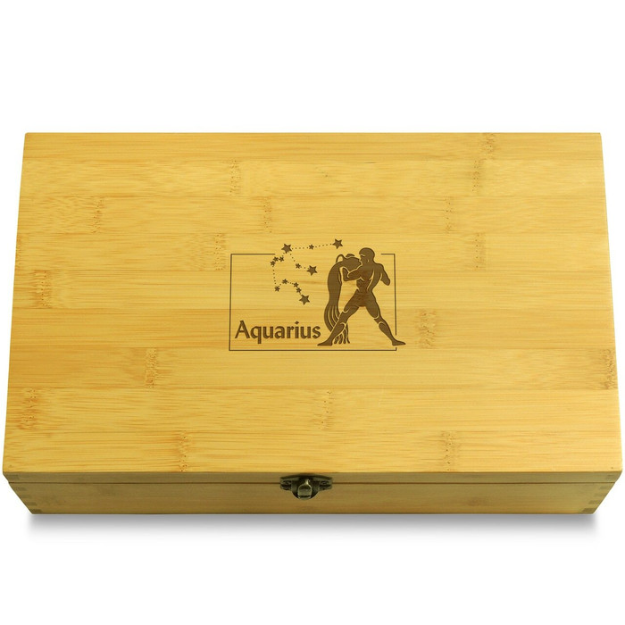 Aquarius Wood Chest Lid
