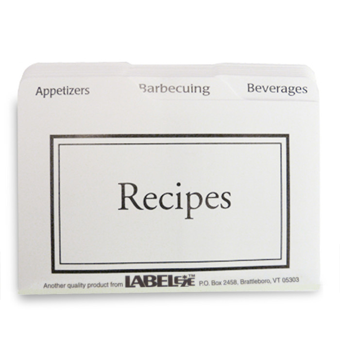 Beautiful 3x5 Black and White Recipe Cards Dividers Made in USA