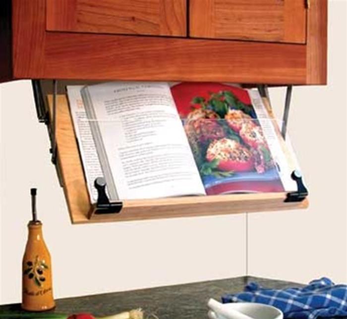 Under Counter Cookbook Stand Organizes Your Kitchen