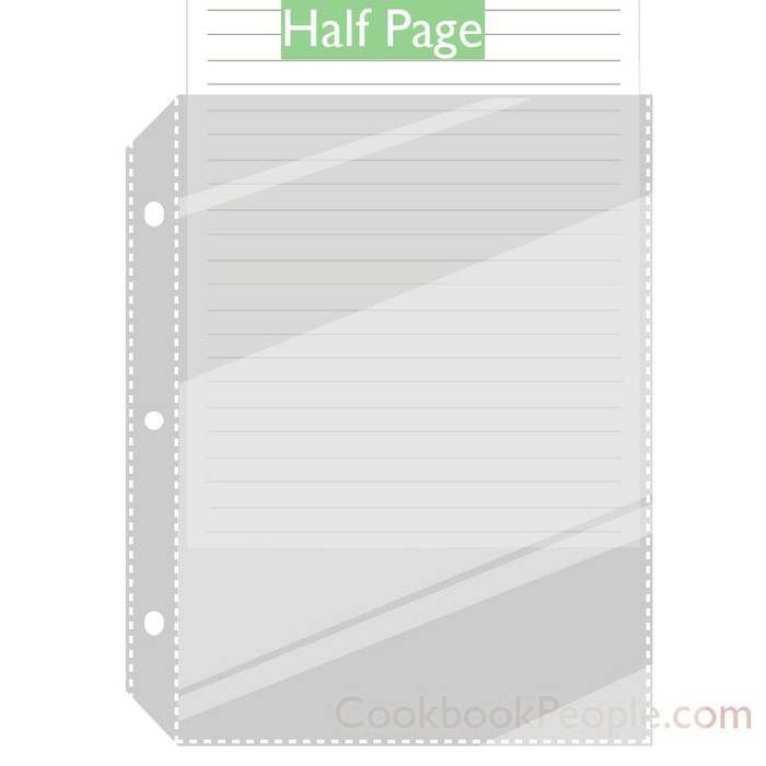 Page Protector Sleeves for Small 8.5x11 3 Ring Binders. Made in USA