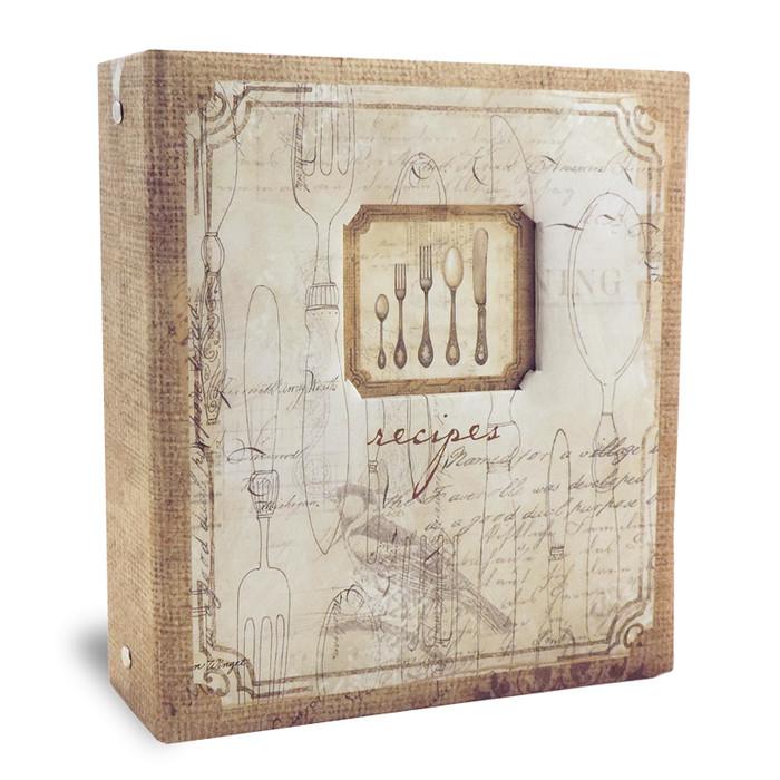 versatile 4x6 brown recipe card binder cookbook album
