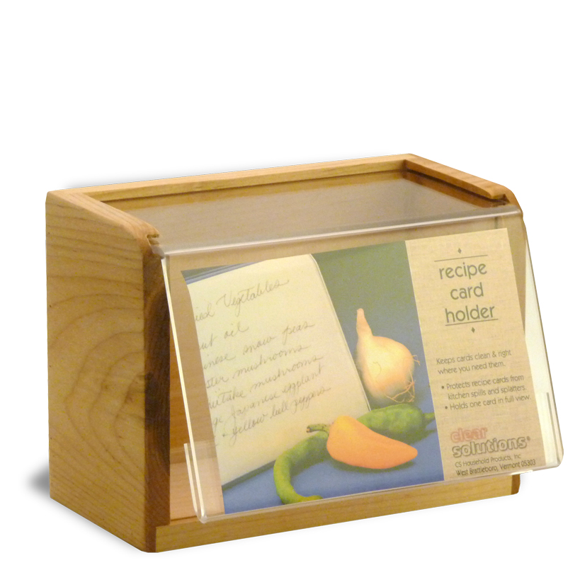 Heirloom 4x6 acrylic clear recipe box buy online made in usa 4x6 maple wood recipe box acrylic front made in usa thecheapjerseys Images