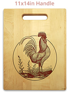 Engraved cutting boards with handles