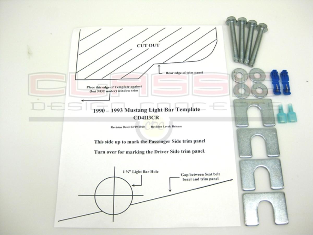 1987 14 mustang lightbar hardware kit buy on cdc 181006 90 93 mustang light bar hardware kit aloadofball Choice Image