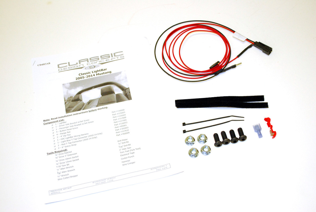 1987 14 Mustang Lightbar Hardware Kit Buy On Cdc 1990 Gt Wiring Harness 112000 05 Light Bar