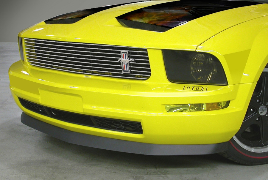 CDC# 0511-2001-01 - 05-09 Mustang V6 Brushed Upper Replacement Grille with Pony Emblem