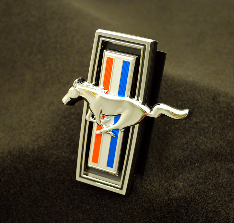 Mustang GT Billet Grille Tri-Bar Pony Emblem (2005-09)