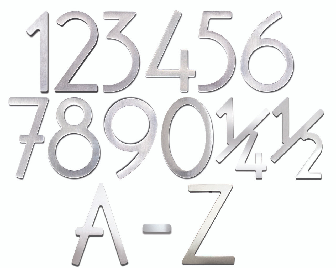 Self Adhesive 3 Quot Stainless Steel Door Numbers Amp Letters