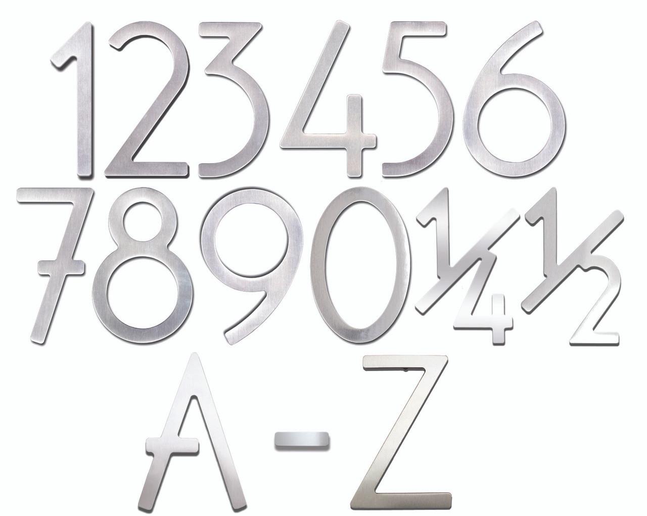 Self-Adhesive 3  Stainless Steel Door Numbers u0026 Letters  sc 1 st  360 Yardware & Self-Adhesive 3