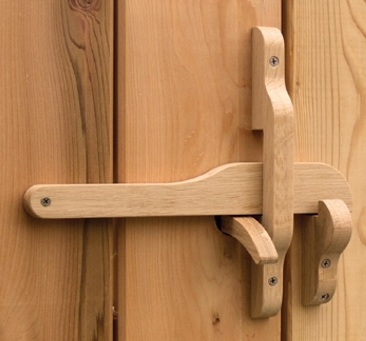 Rustic Wooden Gate Latch -