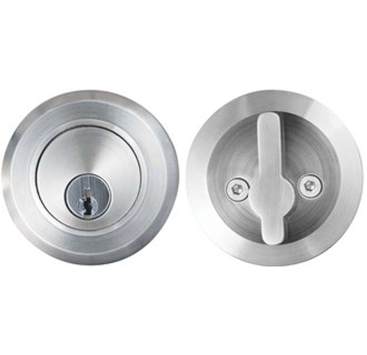 Stainless Steel Round Deadbolt For Thick Gates And Doors