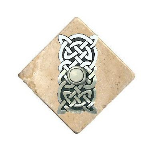 Celtic Knot Doorbell Button In Pewter On Stone 360 Yardware