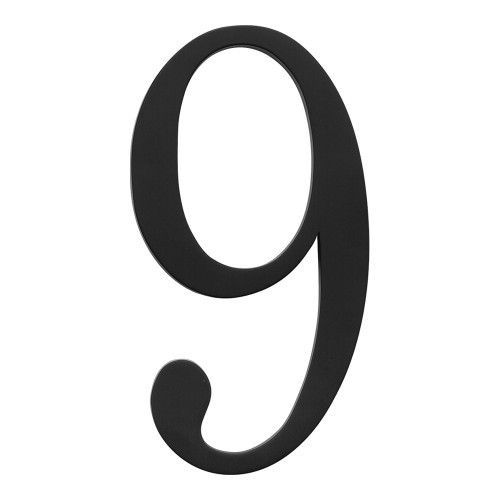 The Traditionalist House Number 0 Black 360 Yardware