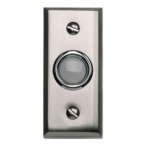 Mission Style Doorbell   Brushed Nickel
