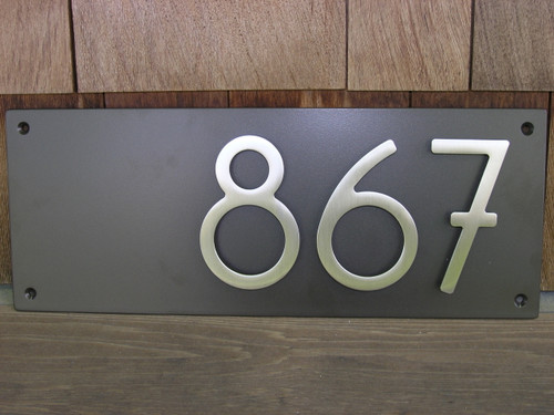 Address plaque with 5 bungalow style house numbers 3 for Location plaque garage