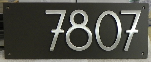 Address Plaque With 5 Quot Bungalow Style House Numbers 4