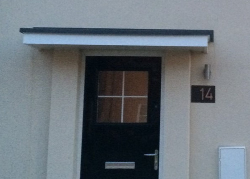 Address plaque with 5 bungalow style house numbers 2 for Bungalow house numbers