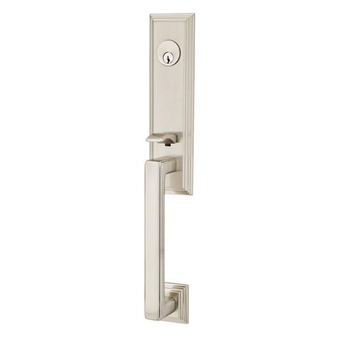 ... Wilshire Style Brass Entry Handleset by Emtek ...  sc 1 st  360 Yardware & Wilshire Style Brass Entry Handleset by Emtek - 360 Yardware