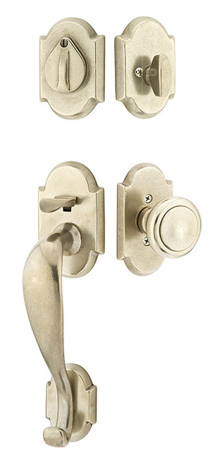 Creston Style Sandcast Bronze Entry Handleset By Emtek