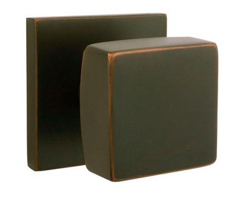 Square Brass Modern Door Knob By Emtek ...