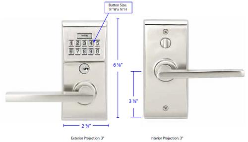 Modern Brass Keypad Leverset - No Key Required! - 360 Yardware