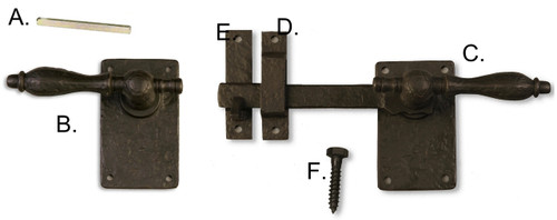 Dark Bronze Latch With Rounded Handle 360 Yardware