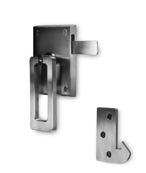 Elise Modern Stainless Steel Ring Gate Latch Latch Side