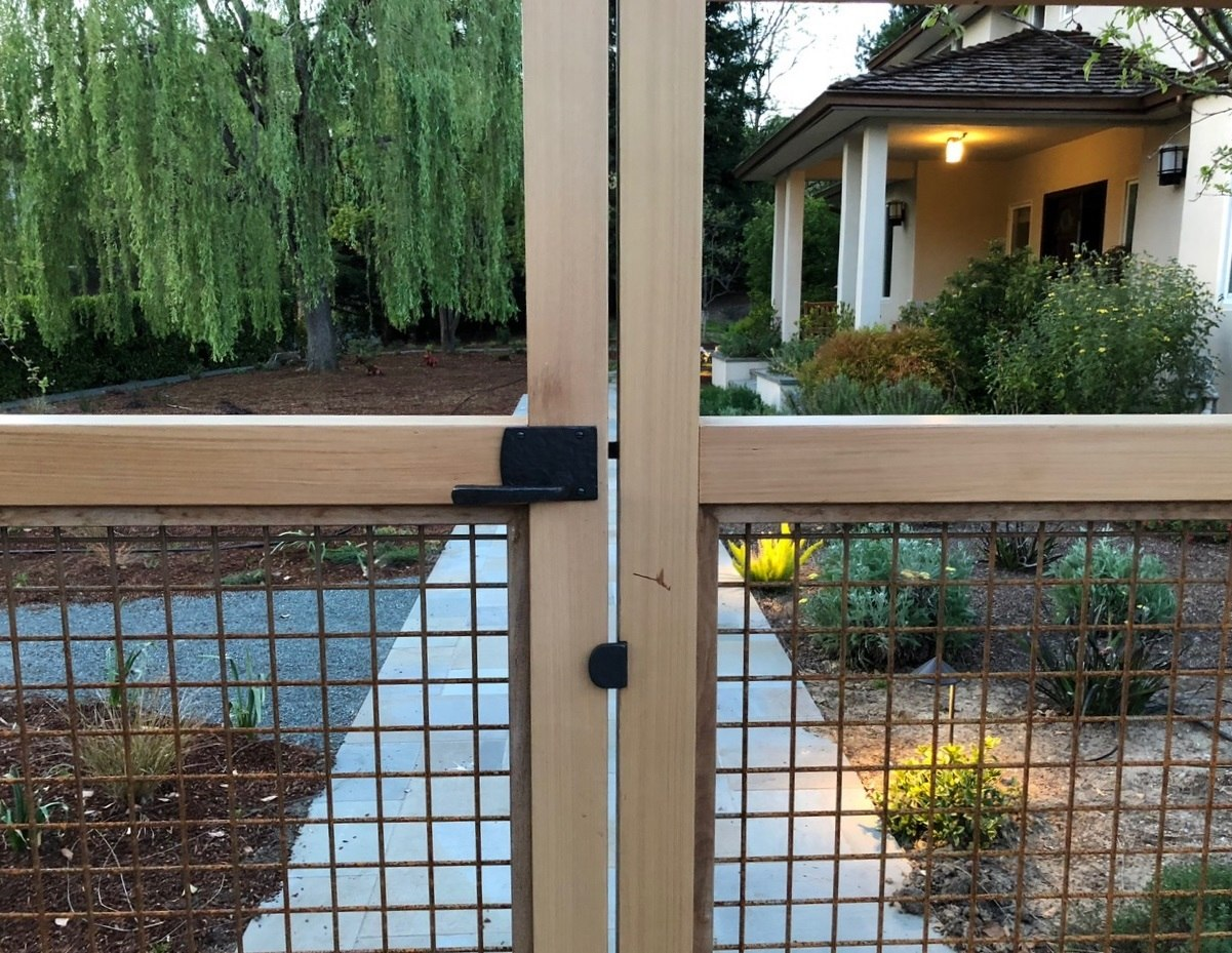 Bronze Contemporary Lever Gate Latch And Gate Stop