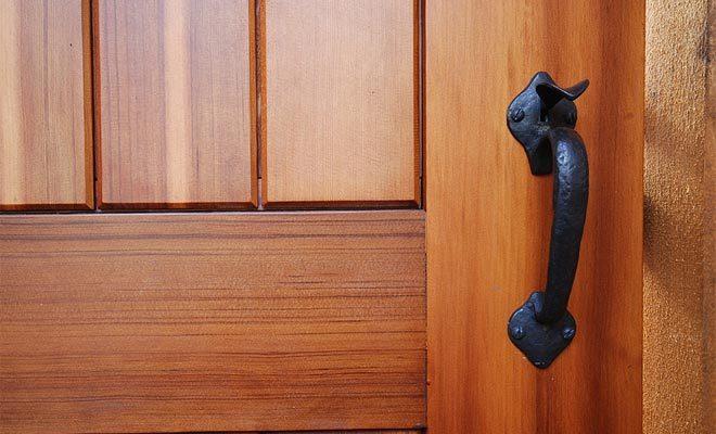 Coastal Bronze Thumb Latch On Wooden Gate 40 300 Straight