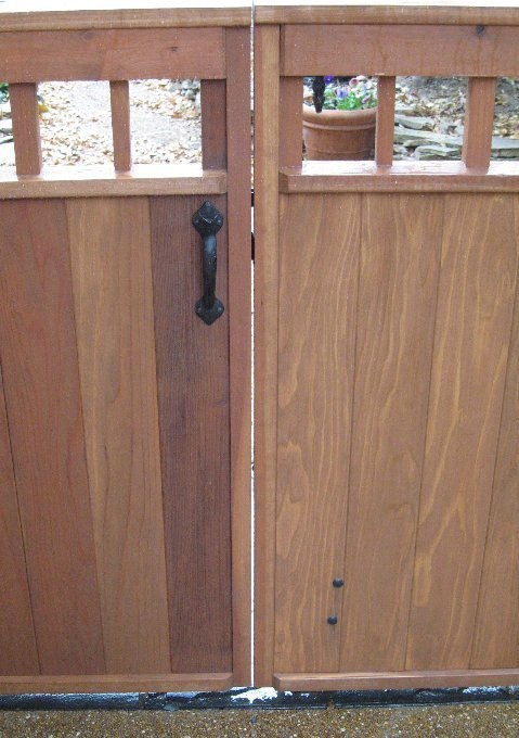Double Driveway Gate With Coastal Bronze Thumb Latch 40 300 Straight