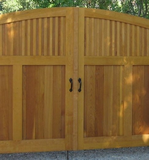 Heavy Duty Wooden Double Driveway Gate With Coastal Bronze Thumb Latch 40 300 Straight And Dummy Handle 40 400